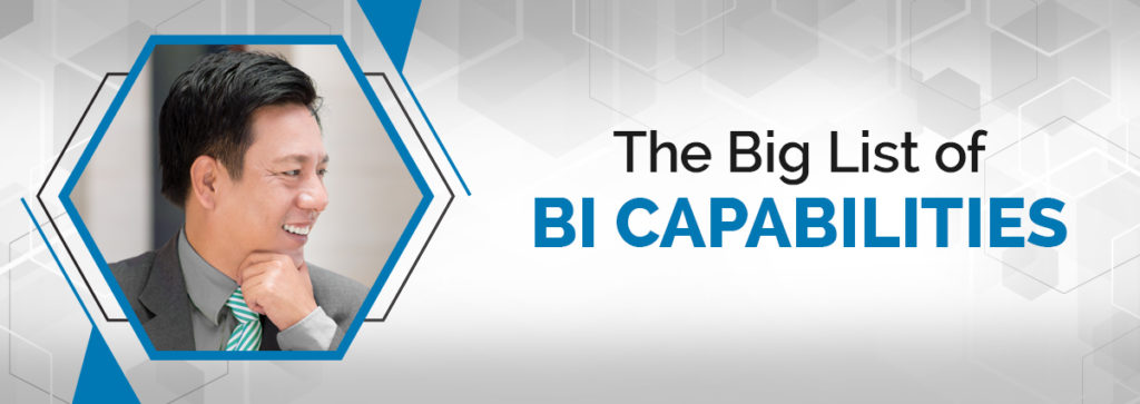 The Big List of BI Capabilities