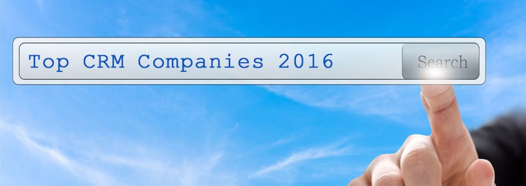 Top CRM Companies to Watch in 2016