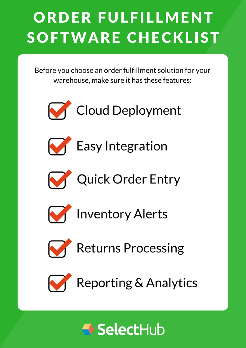 Order Fulfillment Software Features Checklist