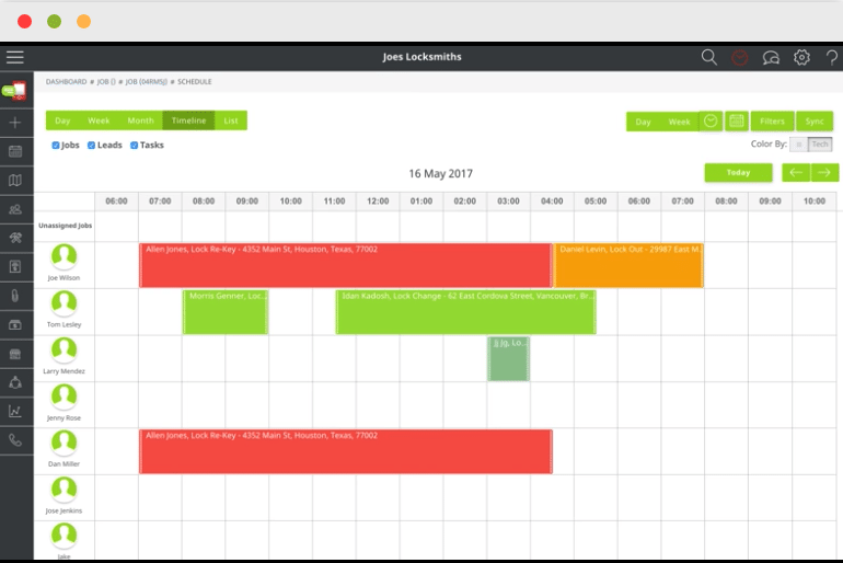 Screenshot of Send A Job's scheduling feature
