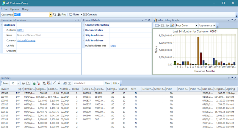 SYSPRO ERP Customer screenshot