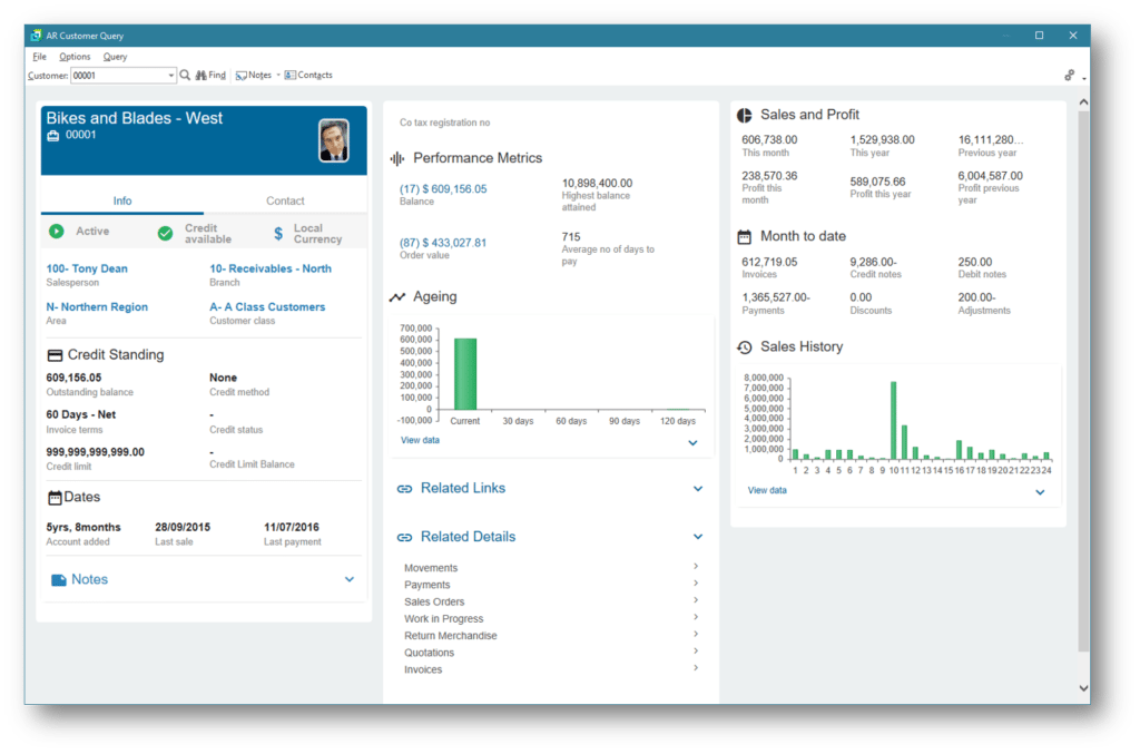 SYSPRO ERP screenshot
