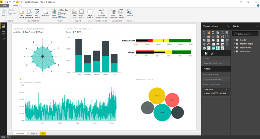 Power BI interfae