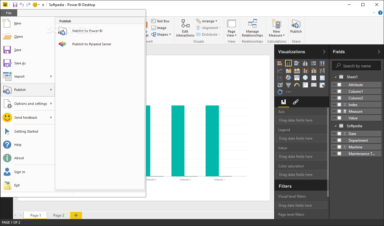 Power BI publishing
