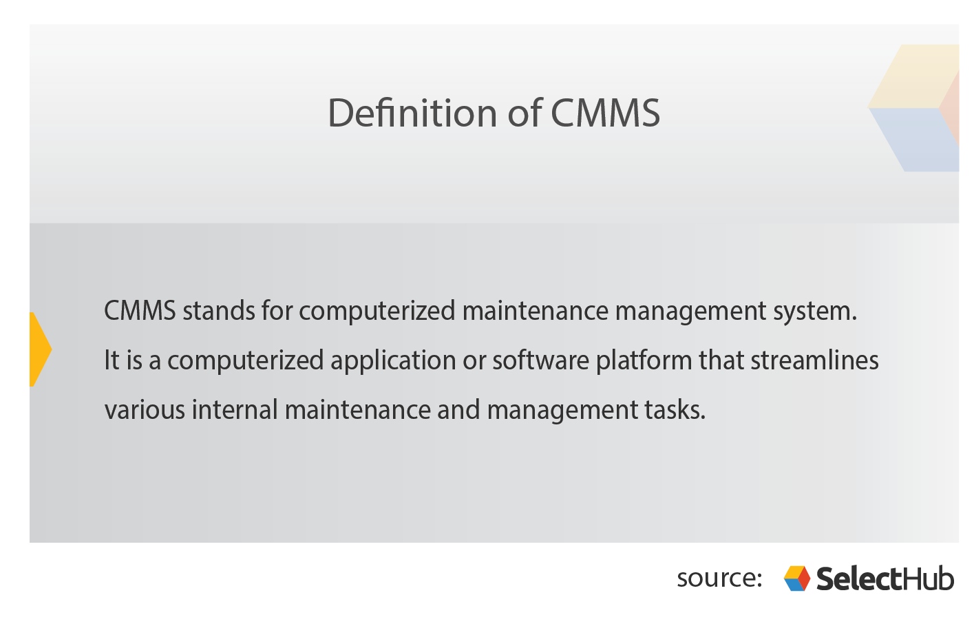 Definition of CMMS