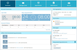 Patient Portal Dashboard
