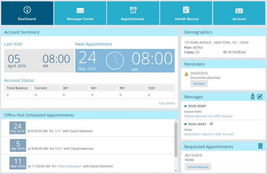 PracticeEHR Patient Portal