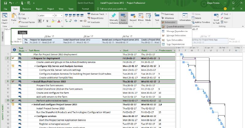 Microsoft Project Gantt Chart