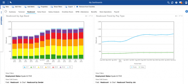 Dayforce HCM Headcount Dashboard