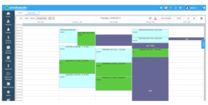 Color-coded scheduling used in PracticeSuite EHR