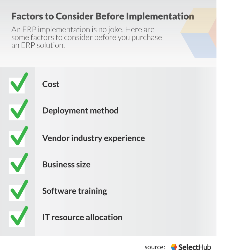 erp manufacturing implementation considerations