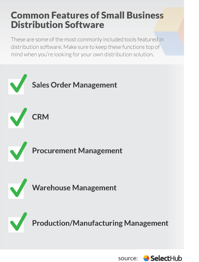 distribution software small business features