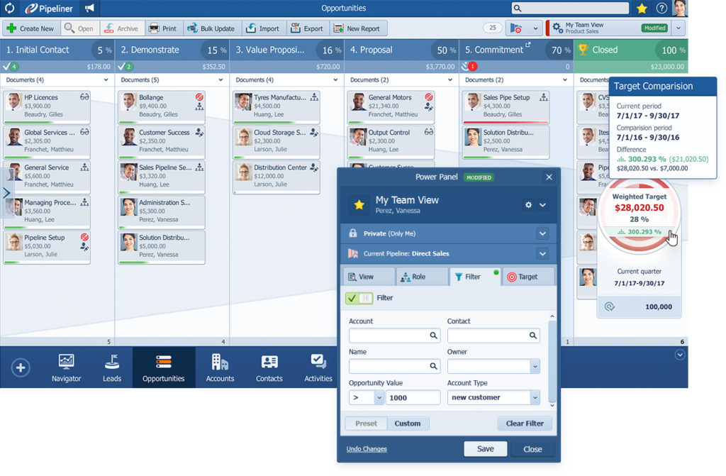 Pipeliner CRM Opportunities