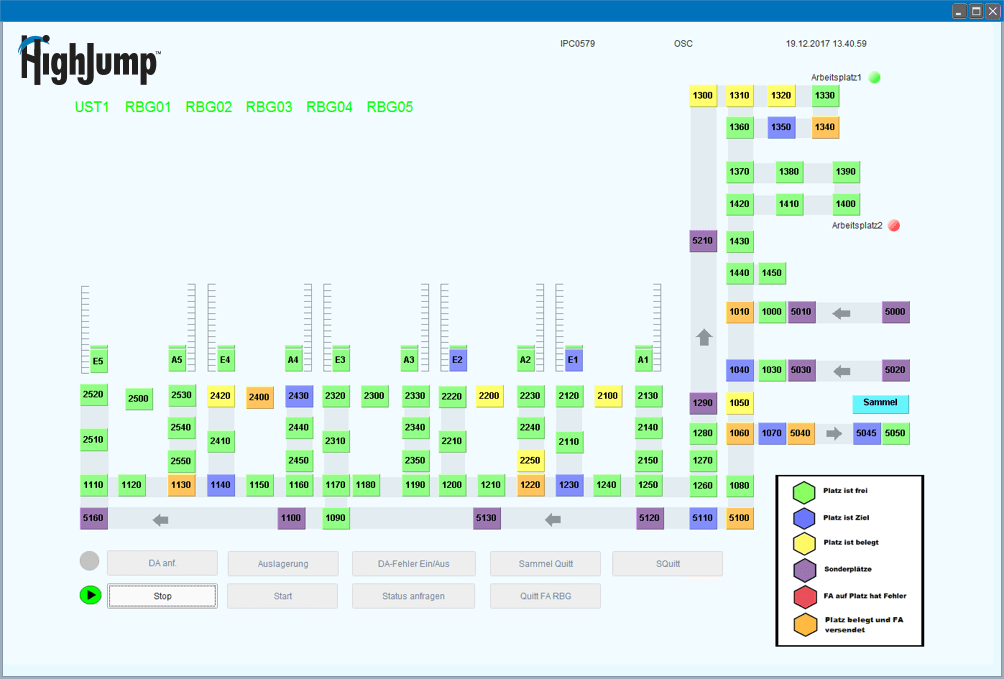 Automated Warehouse System Dashboard