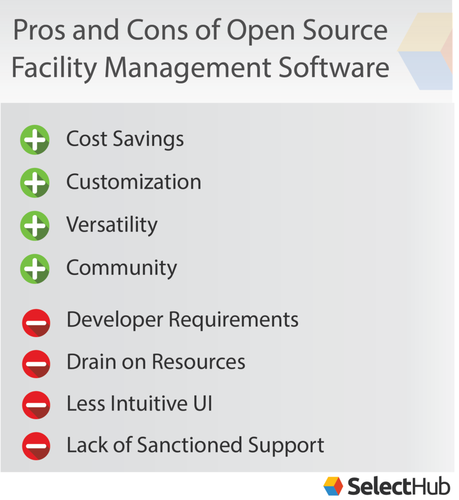 open source facility management software pros cons