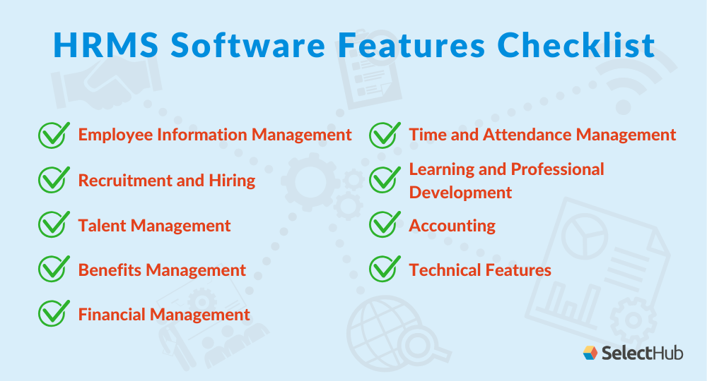 HRMS Software Features checklist
