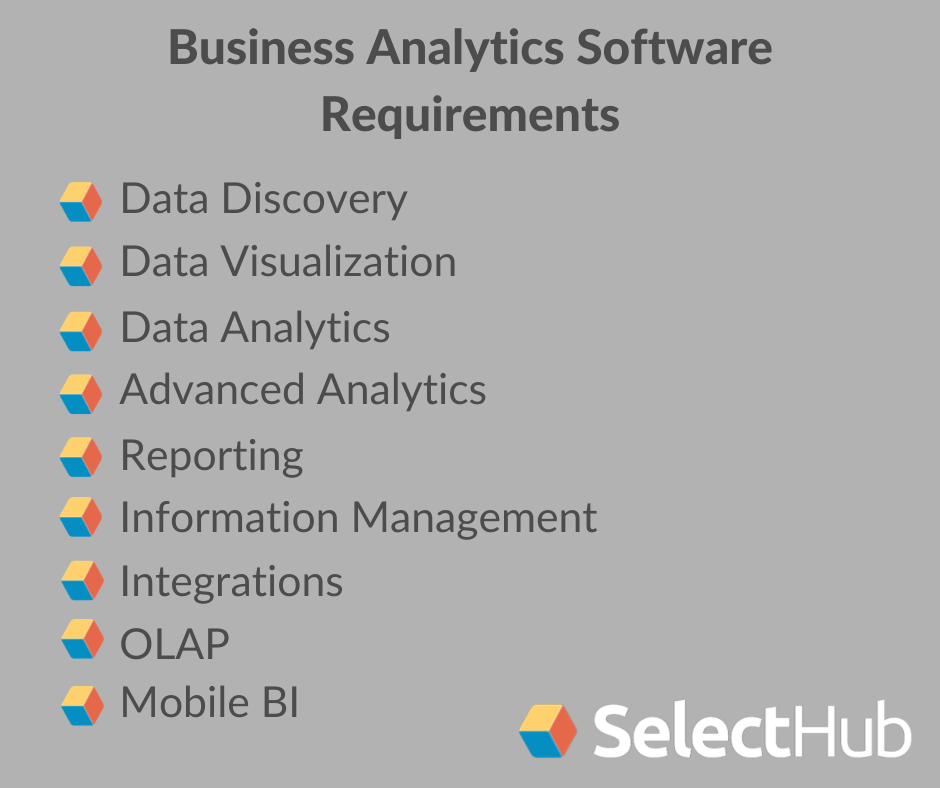 Data Analytics Tool Requirements