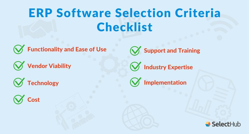 ERP Selection Criteria Checklist