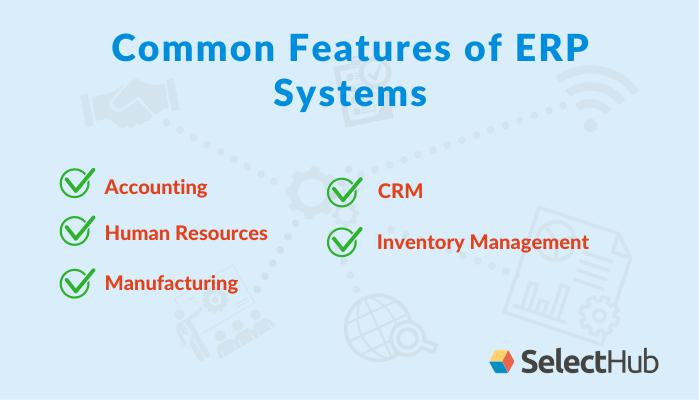 Características comunes de los ERP